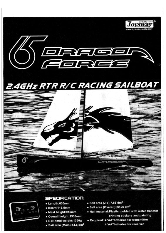 Dragon Force 65 Instruction Manual at Abersoch Boatyard Services