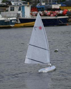 RC Laser, Radio Controlled Laser, RC Model Yacht, RC Boat